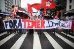 Siguen las manifestaciones contra Michel Temer en las calles de Brasil