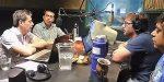 Los concejales Luis Díaz y David Cáceres debatieron sobre la venta de terrenos del Parque Botánico