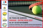 Torneo Abierto de Tenis de Sordos se llevará a cabo en Paraná