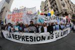 Se realizó el paro nacional docente contra las represiones en Chubut y Corrientes