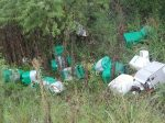 Vecino de Urdinarrain filmó cómo se descartan envases de agroquímicos sin ninguna precaución