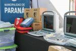 Entrega de equipamiento a centros de salud de Paraná