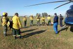 Continúa el combate de incendios en Islas Lechiguanas